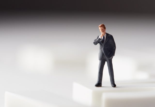 ビジネスマンの人形
